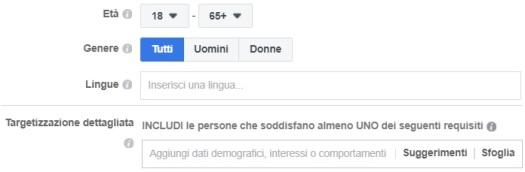 custom audiences facebook caratteristiche persone