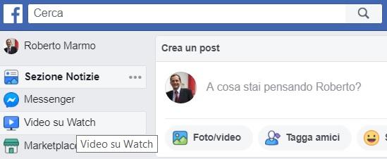 cerca video Facebook da profilo