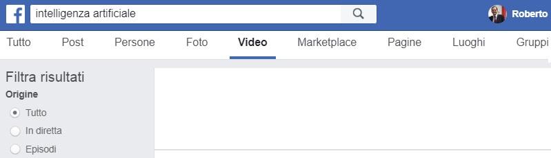 cerca video Facebook risultati