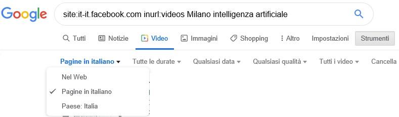 video ricerca Google