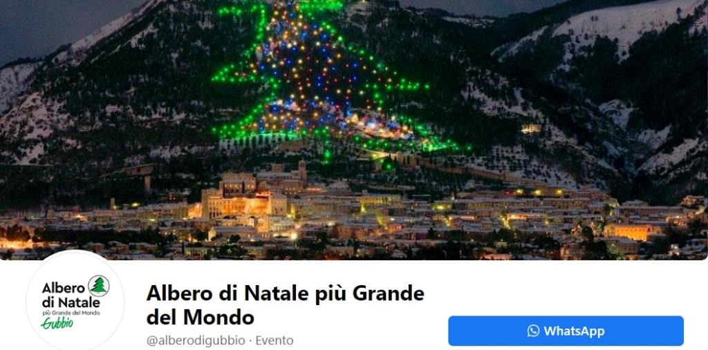 albero di Natale più grande al mondo a Gubbio