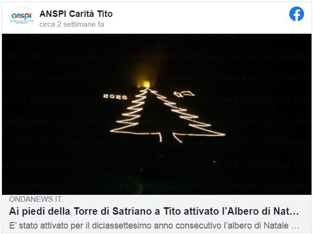 albero di Natale più grande in Basilicata a Satriano (Potenza)