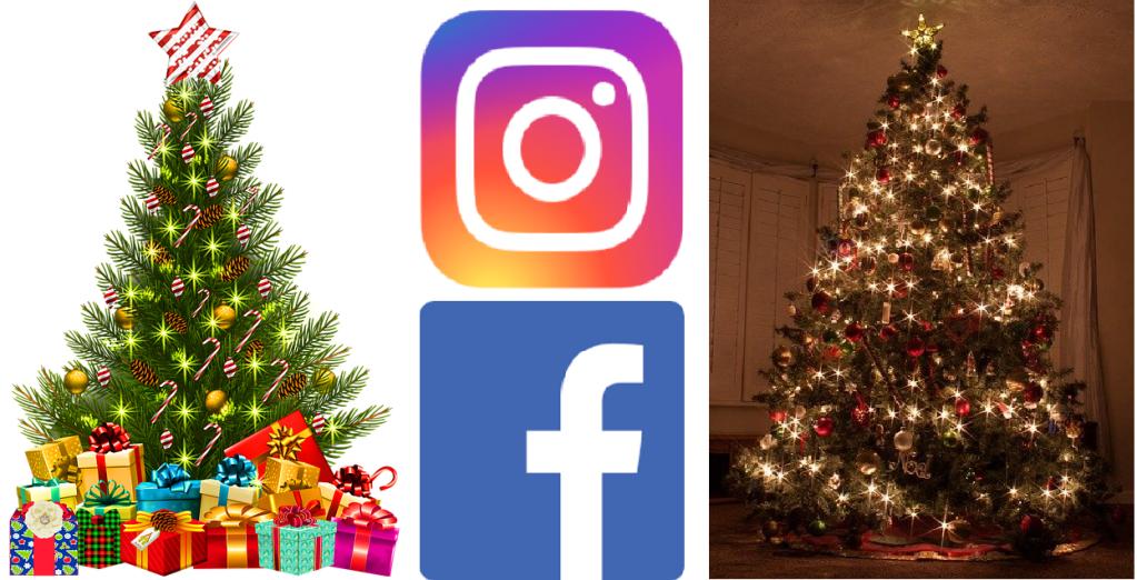 trovare albero di Natale in Facebook e Instagram